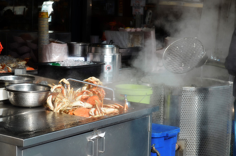 Fresh crab in Fisherman's Wharf