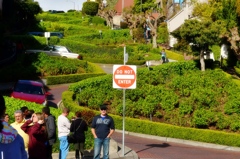Lombard Street -- curviest street in America -- we drove it!