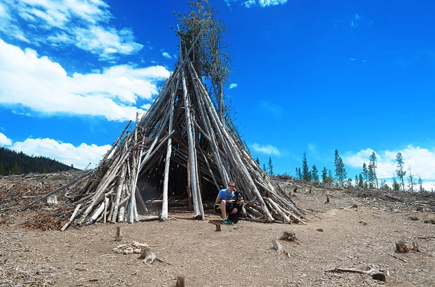 Tepee at the top