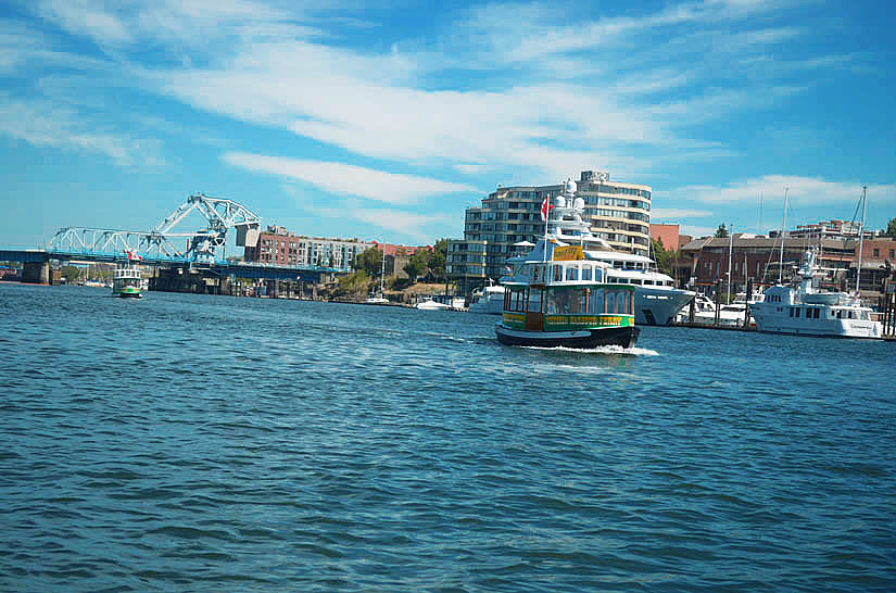 Water taxis are $5 per trip