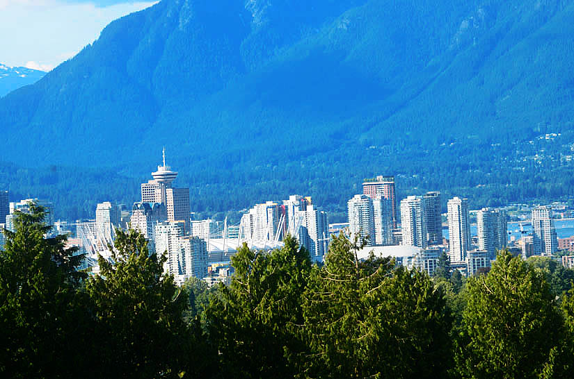 Vancouver Canada view from Queen Elizabeth Park