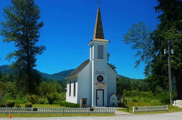 Church at the Train Station