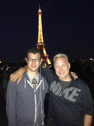Ryan and I at the Eiffel Tower
