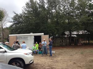 Volunteering at Habitat for Humanity