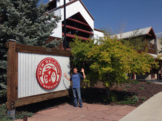New Belgium Brewery with Cameron
