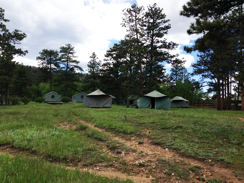 Tents for retreat visitors