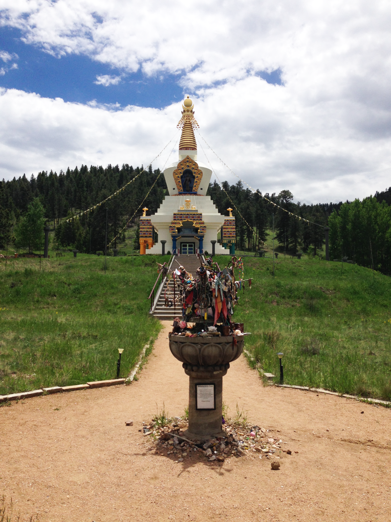 Arriving at the Stupa of Dharmakaya