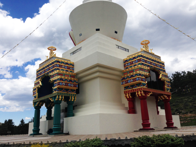 Up close shot of the Stupa