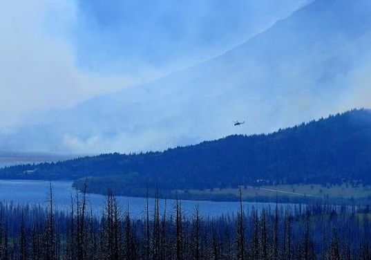 Glacier National Park Fire (not my photo)