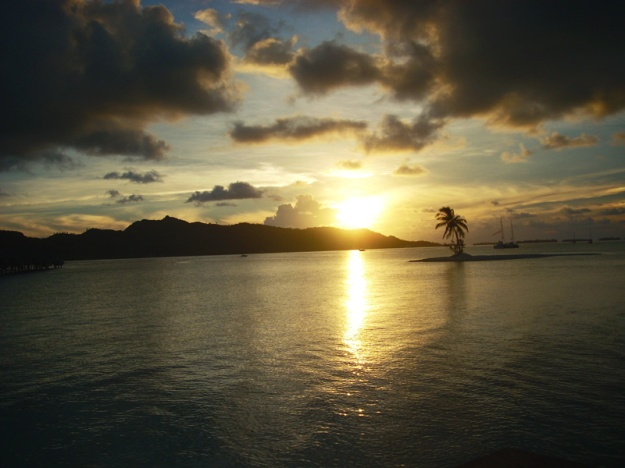 Sunset in Bora Bora