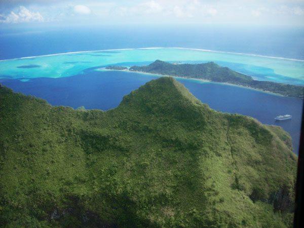 Flight to Bora Bora