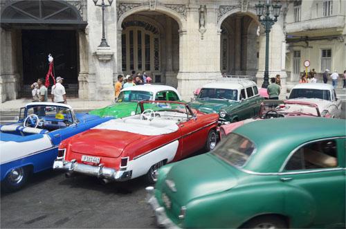 American 1950 Cars in Cuba