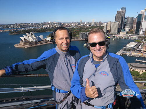 Sydney Bridge Climb Steve and Joey