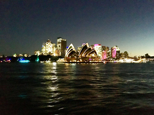 Sydney Opera House Night with Skyline 2